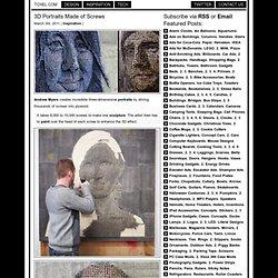 3D Portraits Made of Screws