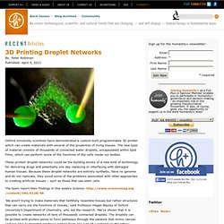 3D Printing Droplet Networks
