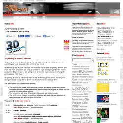 3D Printing Event « OpenWebcast.nl