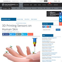 3D Printing Sensors on Human Skin