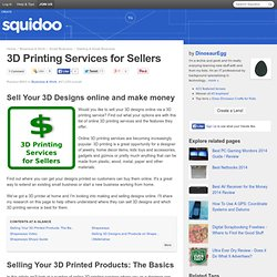 3D Printing Services for Sellers