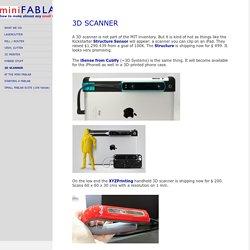 3D SCANNER - miniFabLab