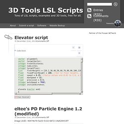 s 3D Tools and LSL Script Repository