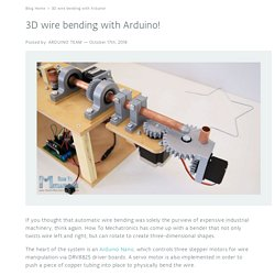 3D wire bending with Arduino!