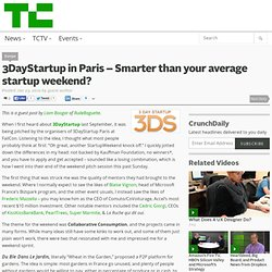 3DayStartup in Paris – Smarter than your average startup weekend?