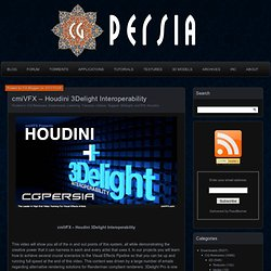 cmiVFX – Houdini 3Delight Interoperability