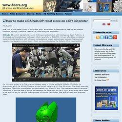 How to make a DARwIn-OP robot clone on a DIY 3D printer