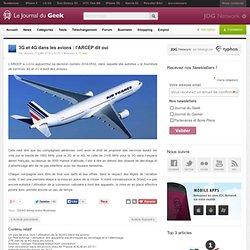 3G et 4G dans les avions : l'ARCEP dit oui