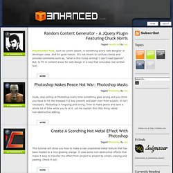 3nhanced.com - Imagine, Design, Develop, Create the Web