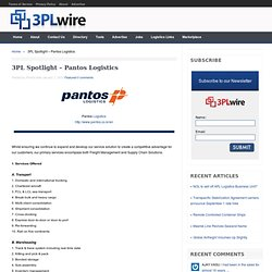 3PL Spotlight – Pantos Logistics