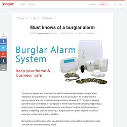 Must knows of a burglar alarm - 3pprotection