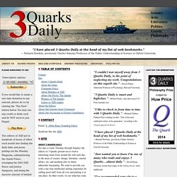 About 3QD 3 Quarks Daily
