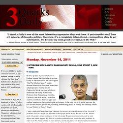 3quarksdaily: Interview with Gayatri Chakravorty Spivak, 92nd Street Y, New York