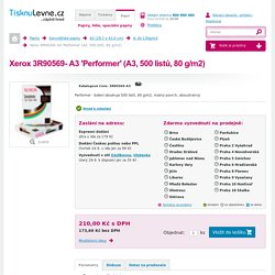 Xerox 3R90569- A3 'Performer' (A3, 500 listů, 80 g/m2)
