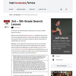3rd – 5th Grade Search Lesson