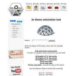 3v Geodesic dome calculator