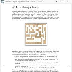 4.11. Exploring a Maze