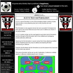 4-2-3-1 Soccer Formation