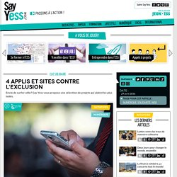 4 applis et sites contre l'exclusion