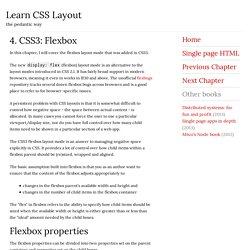 4. CSS3: Flexbox
