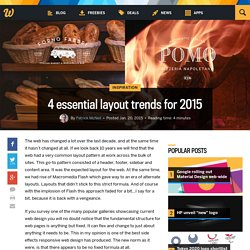 4 essential layout trends for 2015