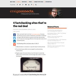 4 factchecking sites that're the real deal