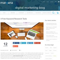 4 Free Keyword Research Tools