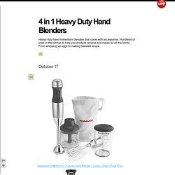 4 in 1 Heavy Duty Hand Blenders