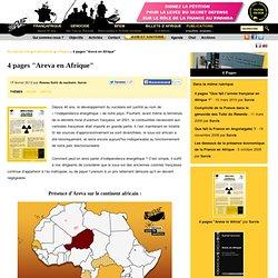 """4 pages """"Areva en Afrique"""""""