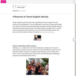 4 Reasons to Teach English Abroad