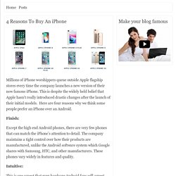 4 Reasons To Buy An iPhone