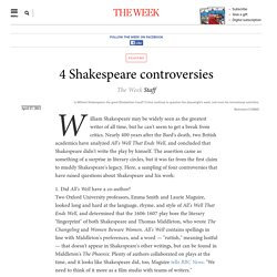 4 Shakespeare controversies