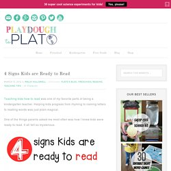 4 Signs Kids are Ready to Read