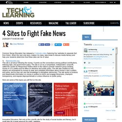 4 Sites to Fight Fake News