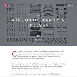 4 tips on typography in UI design