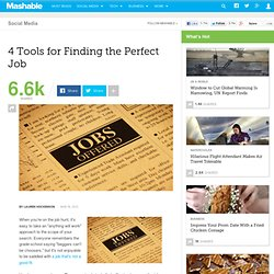 4 Tools for Finding the Perfect Job