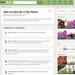 How to Care for a Toy Horse: 23 steps