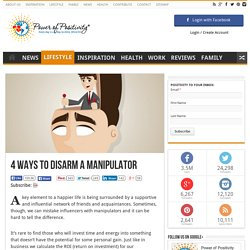 4 Ways to Disarm a Manipulator