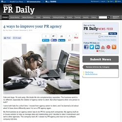 4 ways to improve your PR agency
