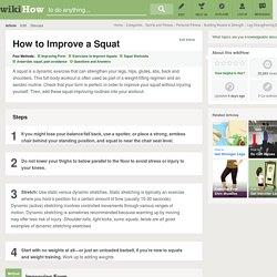 4 Ways to Improve a Squat