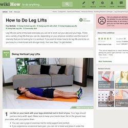 4 Ways to Do Leg Lifts