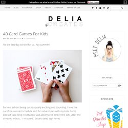 40 Card Games For Kids