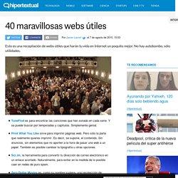 40 maravillosas webs útiles