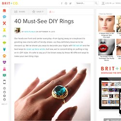 40 Must-See DIY Rings