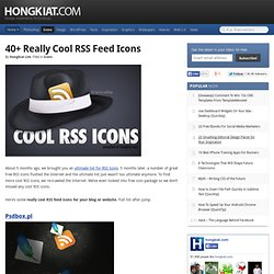 40+ Really Cool RSS Feed Icons