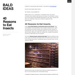 40 Reasons to Eat Insects