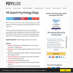 40 Superb Psychology Blogs