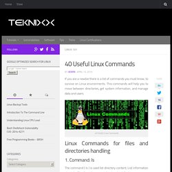 40 Useful Linux Commands