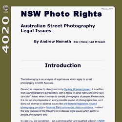 NSW Photographer's Rights
