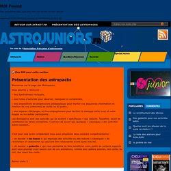 """Activités d'astronomie """"Astrojunior"""""""